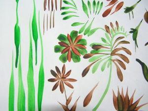Уроки рисования. Простые элементы плоской кистью. Ярмарка Мастеров - ручная работа, handmade.
