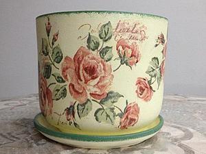 Преображаем старый цветочный горшок. Ярмарка Мастеров - ручная работа, handmade.