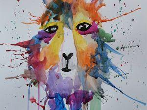 Рисуем веселую ламу. Ярмарка Мастеров - ручная работа, handmade.