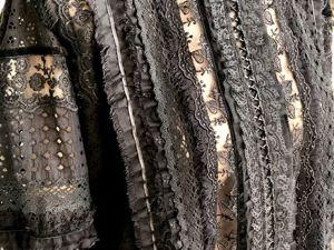 Блуза Валенсия чёрная. Ярмарка Мастеров - ручная работа, handmade.