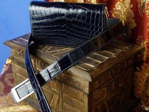 Клатч+ремень из крокодила. Ярмарка Мастеров - ручная работа, handmade.
