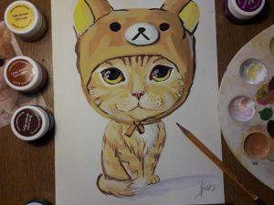 Рисуем кота. Детский мастер-класс. Ярмарка Мастеров - ручная работа, handmade.