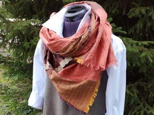 Шьем оригинальный льняной шарф в стиле бохо. Ярмарка Мастеров - ручная работа, handmade.