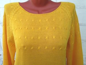 Пуловер желтый  «Людмила». Ярмарка Мастеров - ручная работа, handmade.