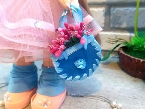 Сумочка для текстильной куклы (на скорую руку). Ярмарка Мастеров - ручная работа, handmade.