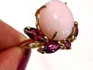 Видео кольца «Sakura» розовый опал,турмалины,золото 585 ручная работа. Ярмарка Мастеров - ручная работа, handmade.