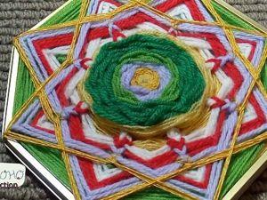Видео мастер-класс: делаем мандалу из ниток и восьмиугольной подставки для торта. Ярмарка Мастеров - ручная работа, handmade.
