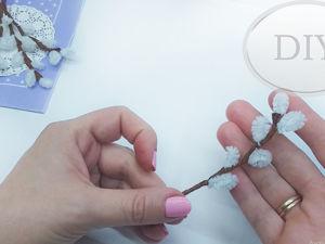 Как сделать веточку вербы из синельной проволоки. Ярмарка Мастеров - ручная работа, handmade.