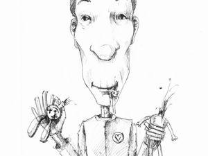 День 277. Набросок ручкой  «Странный Боб». Ярмарка Мастеров - ручная работа, handmade.