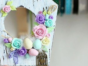 Making a Cute Easter Decoration of Polymer Clay. Livemaster - handmade