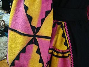 How to Make an Exclusive Fabric with Geometrical Pattern. Livemaster - handmade