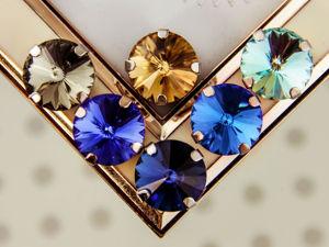 Обзор цветов Риволи 14 мм и 12 мм. Ярмарка Мастеров - ручная работа, handmade.