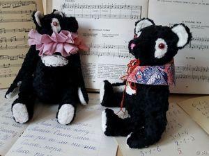 БЕСПЛАТНАЯ доставка — Панды Тедди из антикварного плюша. Ярмарка Мастеров - ручная работа, handmade.