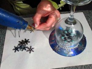 Превращаем бокал в новогодний подсвечник: видео мастер-класс. Ярмарка Мастеров - ручная работа, handmade.
