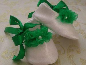 Шьем симпатичные пинетки для маленькой принцессы. Ярмарка Мастеров - ручная работа, handmade.
