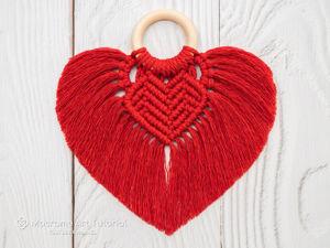 Мастер-класс  «Сердце в технике макраме». Ярмарка Мастеров - ручная работа, handmade.