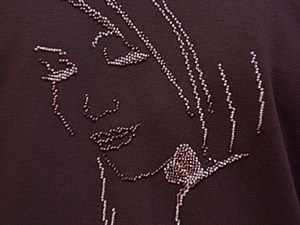 """Вышивка бисером в стиле """"Графика"""" на водорастворимой канве!. Ярмарка Мастеров - ручная работа, handmade."""