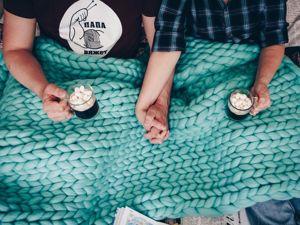 Теплый ли плед из мериноса?. Ярмарка Мастеров - ручная работа, handmade.