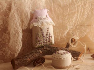 Видео: Лавандовый комплект (домик-саше и игольница). Ярмарка Мастеров - ручная работа, handmade.