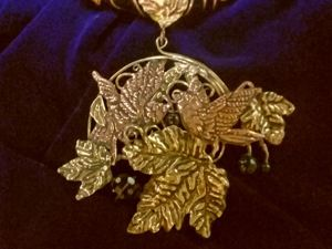 Винтажное колье  «Соловьи». Ярмарка Мастеров - ручная работа, handmade.