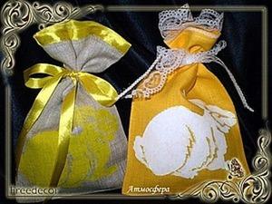 Трафаретная роспись по текстилю «Подарочные мешочки». Ярмарка Мастеров - ручная работа, handmade.