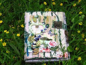 Mixed Media Box шкатулка для украшений с вкладкой для фотографий. Ярмарка Мастеров - ручная работа, handmade.