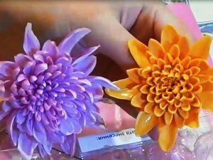 Создаем полноразмерную хризантему из холодного фарфора за 15 минут: видео мастер-класс. Ярмарка Мастеров - ручная работа, handmade.