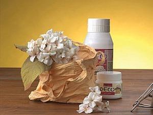 Делаем оригинальную вазу из хлопчатобумажной сумочки. Ярмарка Мастеров - ручная работа, handmade.