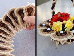 Мастерим корзинку из джута своими руками. Ярмарка Мастеров - ручная работа, handmade.
