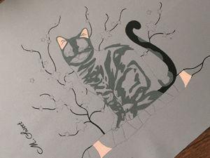 Кошка Матильда: с чего начинается роспись. Ярмарка Мастеров - ручная работа, handmade.