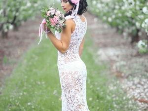 Платья: Вязаное крючком длинное платье!. Ярмарка Мастеров - ручная работа, handmade.