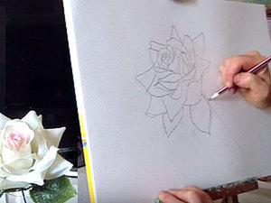 Уроки рисования для начинающих. Как нарисовать розу карандашом поэтапно. Ярмарка Мастеров - ручная работа, handmade.