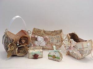 Винтажные корзиночки ко Христову дню.. Ярмарка Мастеров - ручная работа, handmade.