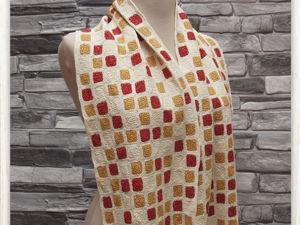 Видео-обзор льняного шарфа. Ярмарка Мастеров - ручная работа, handmade.