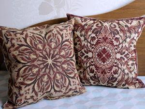 Чехлы с растительными орнаментами для уюта любого интерьера. Ярмарка Мастеров - ручная работа, handmade.