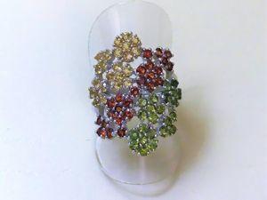 Видеоролик: кольцо серебряное с натуральными камнями  «Цветущий сад». Ярмарка Мастеров - ручная работа, handmade.
