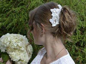 Создаем свадебное украшение для прически. Ярмарка Мастеров - ручная работа, handmade.