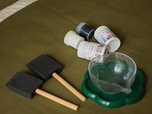 Декорируем ткань с помощью... рук!. Ярмарка Мастеров - ручная работа, handmade.