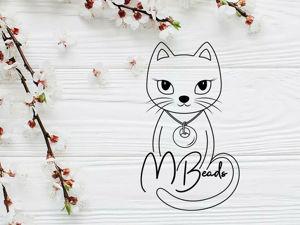 Логотип с кошачьей душой. Ярмарка Мастеров - ручная работа, handmade.