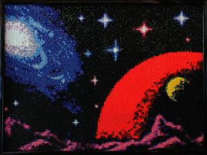 Алмазная мозаика по мотивам космической игры. Ярмарка Мастеров - ручная работа, handmade.