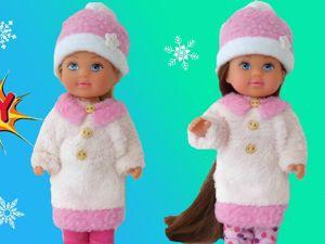 Шьем шубу и шапку для куклы Evi своими руками. Ярмарка Мастеров - ручная работа, handmade.
