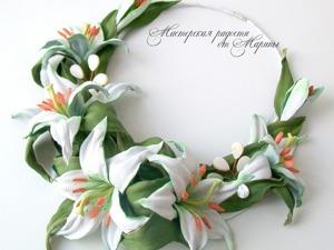 Создаем колье для невесты «Нежность лилий». Ярмарка Мастеров - ручная работа, handmade.