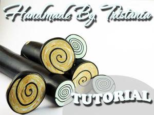 Видеоурок: кейн «Гипнотическая спираль» из полимерной глины. Ярмарка Мастеров - ручная работа, handmade.
