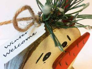 «Нужность из ненужности»! Мастерим винтажных снеговиков из остатков материалов. Ярмарка Мастеров - ручная работа, handmade.