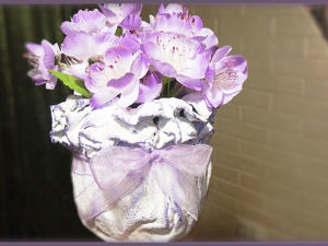 Мастерим нежную вазу «Медуза» из бетона и ткани. Ярмарка Мастеров - ручная работа, handmade.