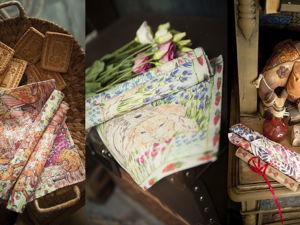 Декоративные салфетки с нашими авторскими принтами. Ярмарка Мастеров - ручная работа, handmade.