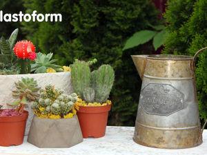 Как сделать ультрамодное кашпо из бетона или гипса для растений своими руками. Ярмарка Мастеров - ручная работа, handmade.