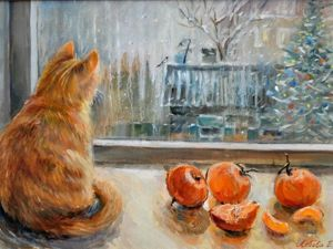 Cozy Christmas Paintings By Famous And Unknown Artists. Livemaster - handmade