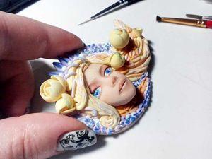 Славянская богиня Леля: лепим брошь из полимерной глины. Ярмарка Мастеров - ручная работа, handmade.