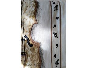 Музыкальные ноты в спальне: декор льняной наволочки. Ярмарка Мастеров - ручная работа, handmade.